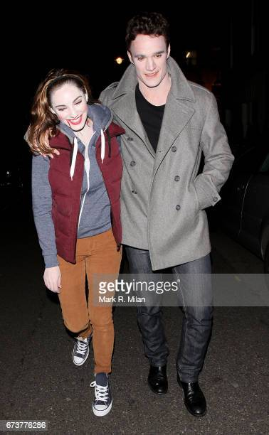 Kelly Brook and Thom Evans depart the Halloween Party at Guy Richie's Pub The Punchbowl on October 29 2011 in London England