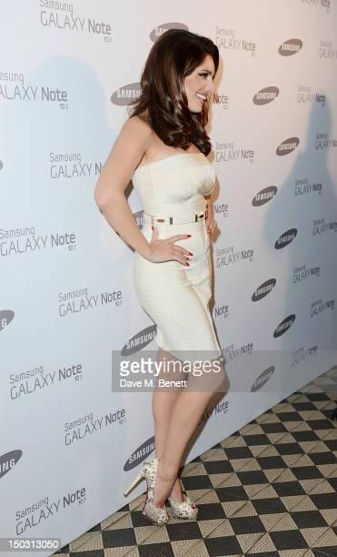 Kelly Brook arrives at the Samsung Galaxy Note 101 launch party at One Mayfair on August 15 2012 in London England