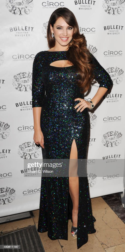 Kelly Brook arrives for the 'Steam and Rye' Restaurant launch party on November 19, 2013 in London, England.