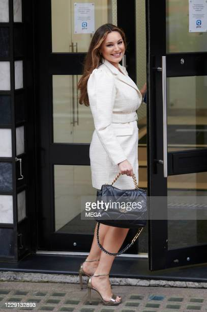 Kelly Brook arriving at Global Radio on October 16 2020 in London England