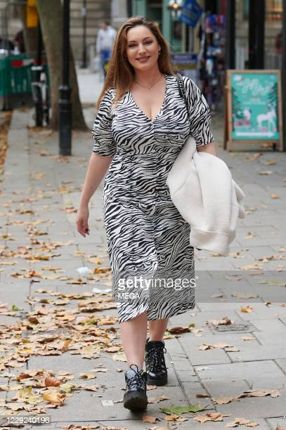 Kelly Brook arriving at Global Radio on October 23 2020 in London England