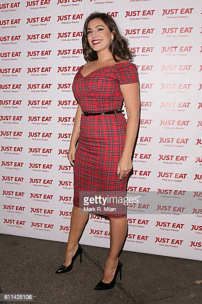 Kelly Brook at the Just Eat party on September 29 2016 in London England