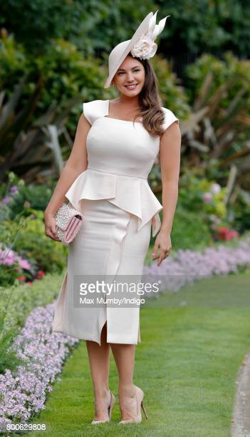 Kelly Brook attends day 5 of Royal Ascot at Ascot Racecourse on June 24 2017 in Ascot England