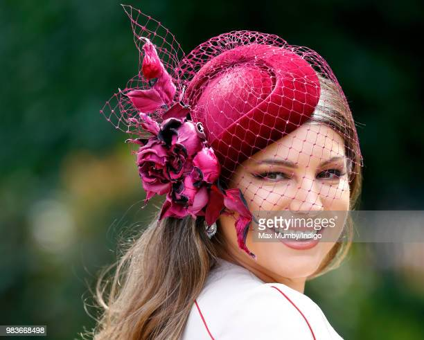 Kelly Brook attends day 5 of Royal Ascot at Ascot Racecourse on June 23 2018 in Ascot England