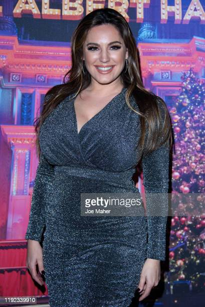 Kelly Brook attends Emma Bunton's Christmas Party at Hilton Park Lane on December 06, 2019 in London, England.