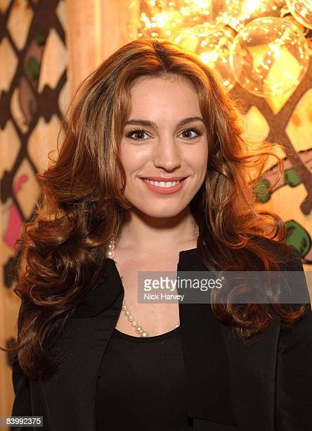 Kelly Brook attends fashion magazine Love's Christmas Tea And Treasure Hunt at Royal Academy of Arts on December 10, 2008 in London, England.