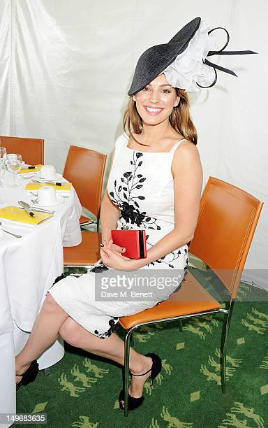 Kelly Brook attends Ladies Day at Glorious Goodwood held at Goodwood Racecourse on August 2 2012 in Chichester England