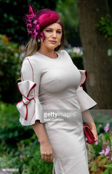 Kelly Brook attends Royal Ascot Day 5 at Ascot Racecourse on June 23, 2018 in Ascot, United Kingdom.