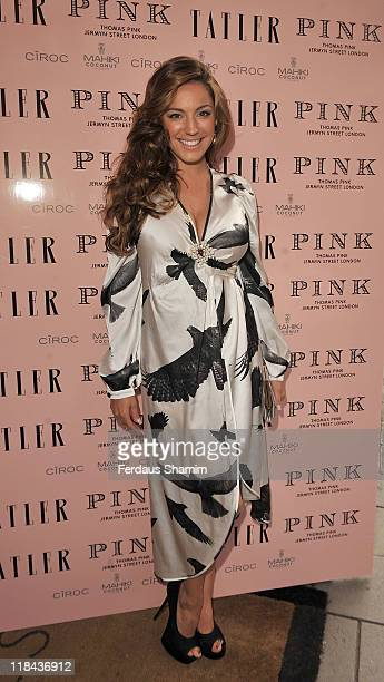 Kelly Brook attends Tatler's Pyjama Party at Claridges Hotel on July 7 2011 in London England