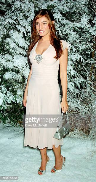 Kelly Brook attends the aftershow party following the Royal Film Performance and World Premiere of 'The Chronicles Of Narnia' at Kensington Gardens...