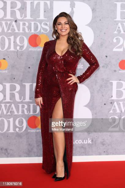 Kelly Brook attends The BRIT Awards 2019 held at The O2 Arena on February 20 2019 in London England