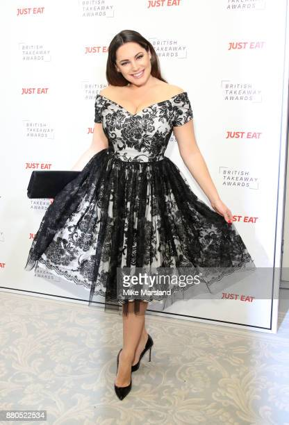 Kelly Brook attends The British Takeaway Awards at The Savoy Hotel on November 27, 2017 in London, England.