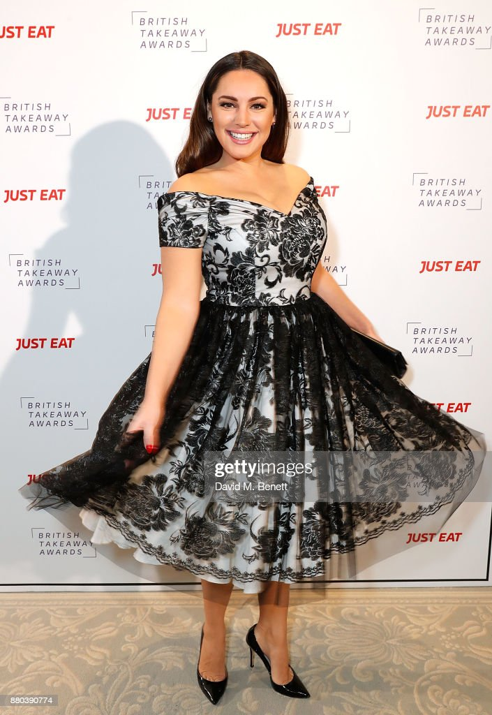 Kelly Brook attends the British Takeaways Awards, in association with Just Eat at The Savoy Hotel on November 27, 2017 in London, England. The awards recognise the unsung heroes of the nation's favourite local takeaways and reward the amazing contribution takeaways, chefs and delivery drivers make to both their local communities and the British economy.