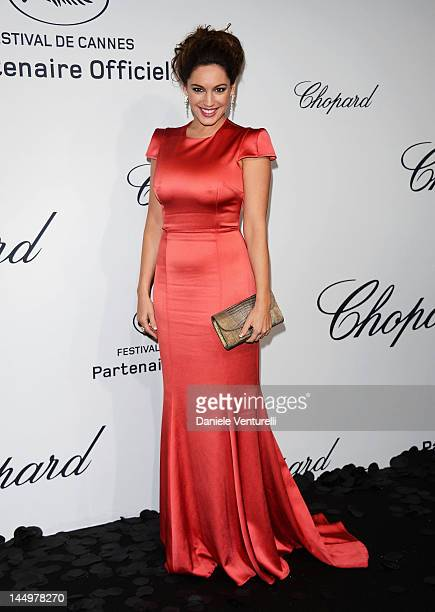 Kelly Brook attends the Chopard Mystere Party during the 65th Annual Cannes Film Festival on May 21 2012 in Cannes France