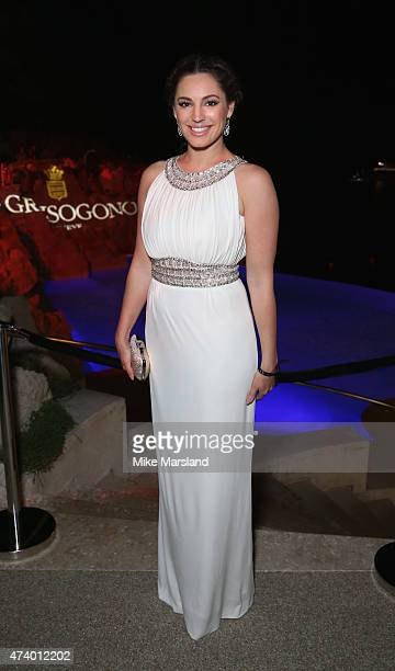 Kelly Brook attends the De Grisogono Divine In Cannes Dinner Party at Hotel du CapEdenRoc on May 19 2015 in Cap d'Antibes France