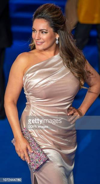 Kelly Brook attends the European Premiere of 'Mary Poppins Returns' at Royal Albert Hall