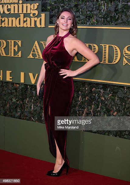 Kelly Brook attends the Evening Standard Theatre Awards at The Old Vic Theatre on November 22 2015 in London England