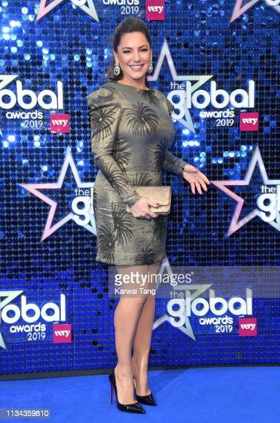Kelly Brook attends The Global Awards 2019 at Eventim Apollo Hammersmith on March 07 2019 in London England