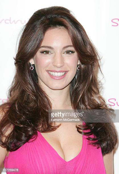 Kelly Brook attends the launch of her at Superdrug on Oxford St on October 17 2007 in London England