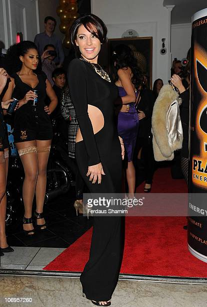 Kelly Brook attends the launch of the Playboy Energy Drink at Funky Buddha on November 18, 2010 in London, England.