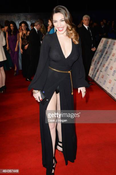 Kelly Brook attends the National Television Awards 2014 on January 22, 2014 in London, England.