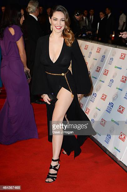 Kelly Brook attends the National Television Awards 2014 on January 22 2014 in London England