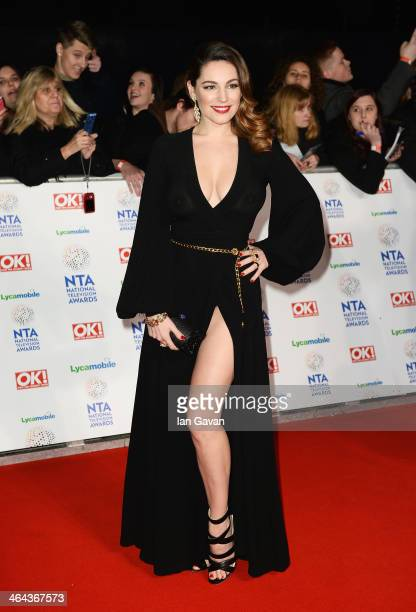 Kelly Brook attends the National Television Awards at 02 Arena on January 22, 2014 in London, England.