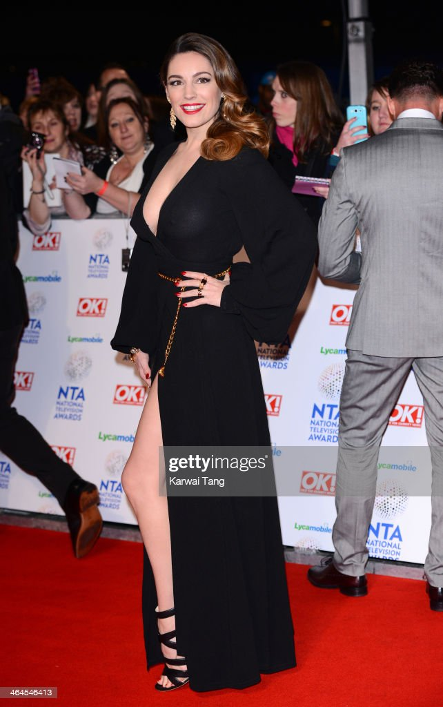 Kelly Brook attends the National Television Awards at the 02 Arena on January 22, 2014 in London, England.