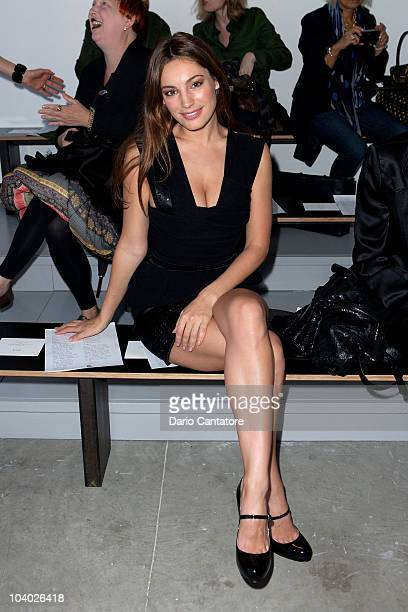 Kelly Brook attends the Preen By Thornton Bregazzi Spring 2011 fashion show during MercedesBenz Fashion Week at Milk Studios on September 12 2010 in...