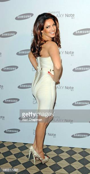 Kelly Brook attends the Samsung Galaxy Note 101 launch party at One Mayfair on August 15 2012 in London England