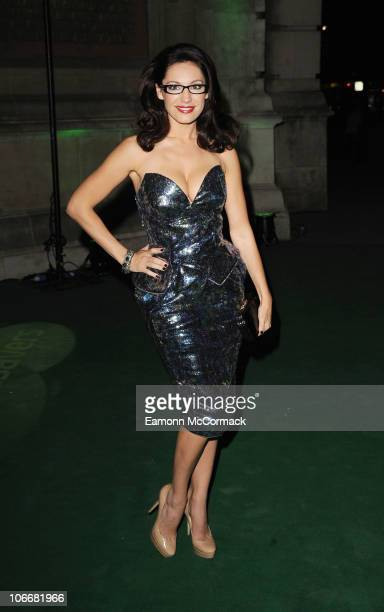 Kelly Brook attends the Spectacle Wearer Of The Year ceremony which celebrates the year's best glasseswearing individuals at Victoria Albert Museum...