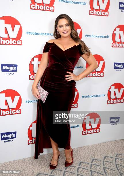 Kelly Brook attends the TV Choice Awards at The Dorchester on September 10 2018 in London England