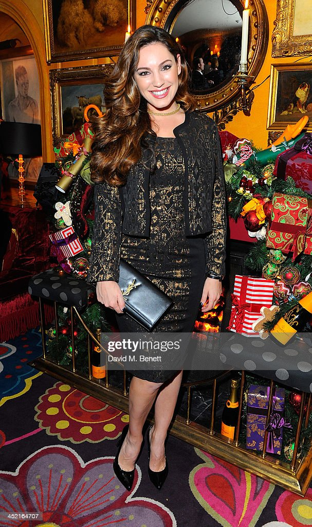 Kelly Brook attends Veuve Clicquot Style Party at Annabel's on November 26, 2013 in London, England.