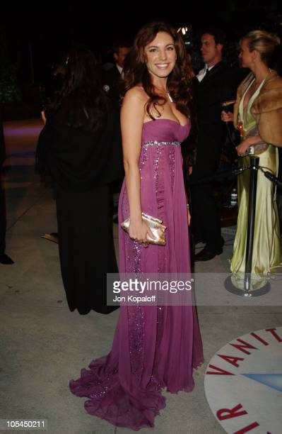 Kelly Brook during 2005 Vanity Fair Oscar Party at Mortons in Los Angeles California United States