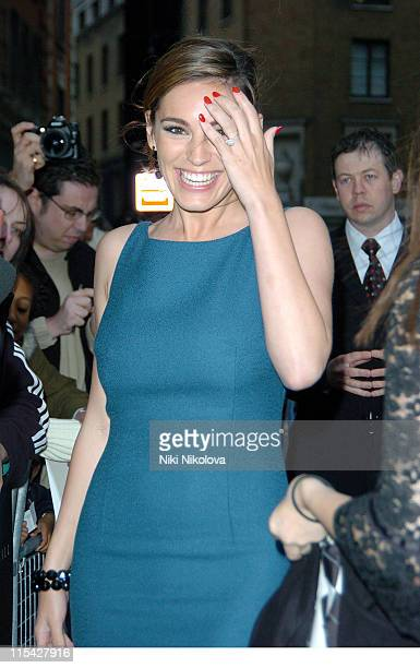 Kelly Brook during 'Three' London Premiere Outside Arrivals at Odeon West End in London Great Britain
