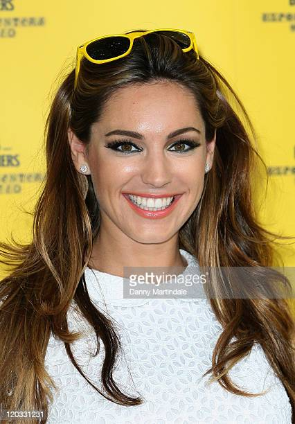 Kelly Brook hosts the launch of Bulmers Cider Garden V1 on August 4 in London England