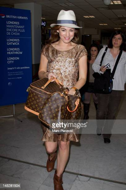 COVERAGE** Kelly Brook is seen at Nice airport on May 25 2012 in Nice France