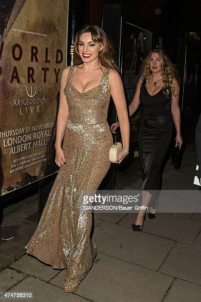 Kelly Brook is seen leaving the James Bond 'Skyfall' World Royal Premiere on October 24 2012 in London United Kingdom