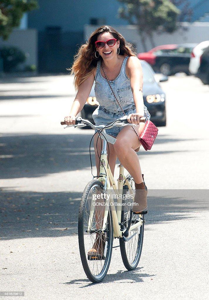 Kelly Brook is seen on July 02, 2014 in Los Angeles, California.