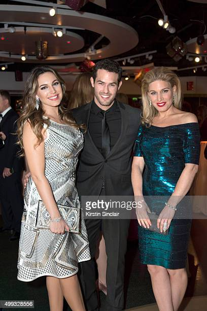 Kelly Brook Jeremy Parisi and Hofit Golan attend the Eastern Seasons' Gala Dinner at Madame Tussauds on November 30 2015 in London England