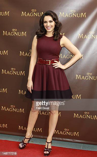 Kelly Brook launches Magnum's new Pleasure Pod at Magnum on July 19 2012 in London England