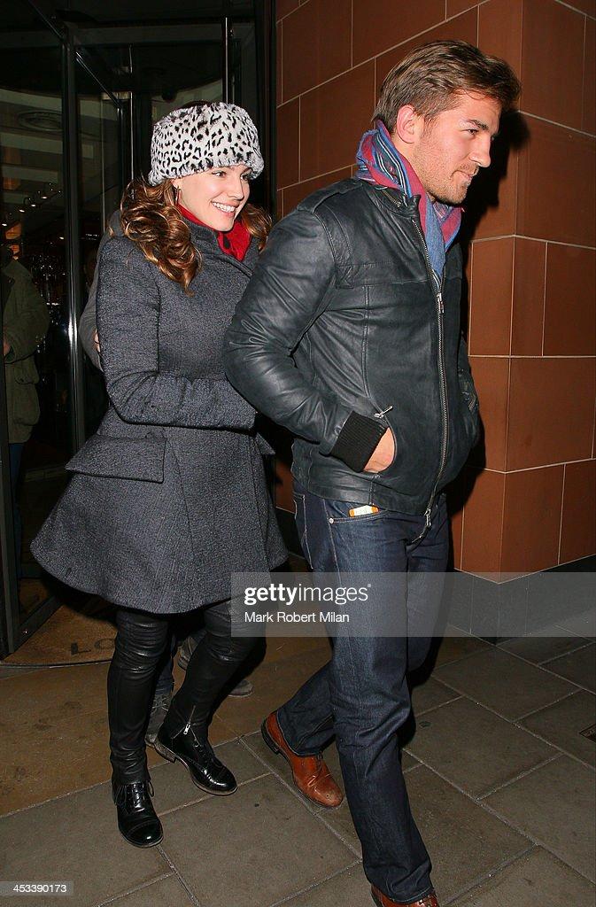 Kelly Brook leaving C restaurant on December 3, 2013 in London, England.