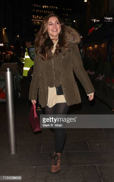 Kelly Brook Leaving Global Radio After Her Heart FM Drive Time Radio Show on January 23 2019 in London England
