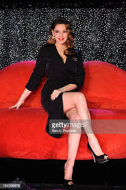 Kelly Brook poses at a photocall as she joins the cast of Crazy Horse at The National Theatre on October 16 2012 in London England