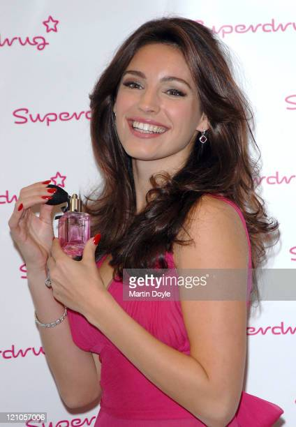 Kelly Brook poses for Photographers as she launches her Eponymous fragrance on October 17 2007 in London England