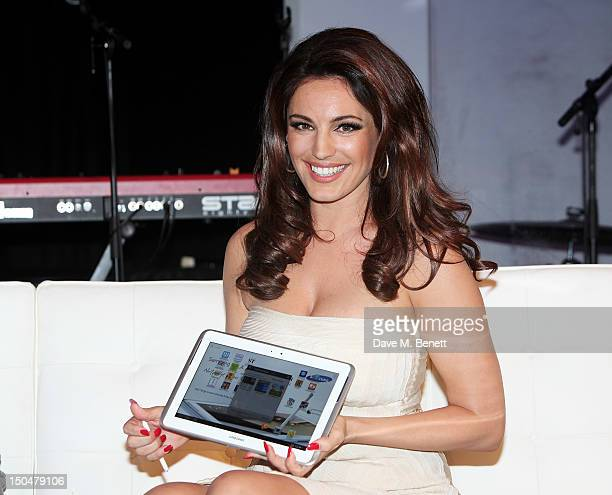Kelly Brook reveals the Samsung Galaxy Note 101 at its London launch event at One Mayfair on August 15 2012 in London England