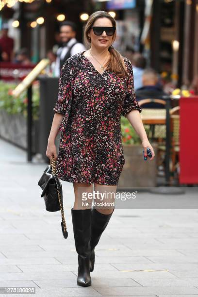 Kelly Brook seen arriving at Heart Radio Studios on September 22 2020 in London England