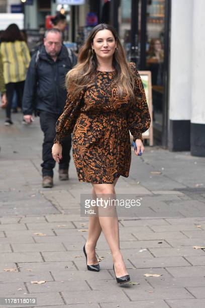Kelly Brook seen arriving at the Heart Radio studios on September 30 2019 in London England