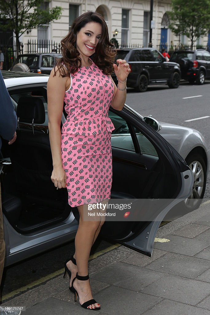 Kelly Brook seen arriving home on May 21, 2013 in London, England.