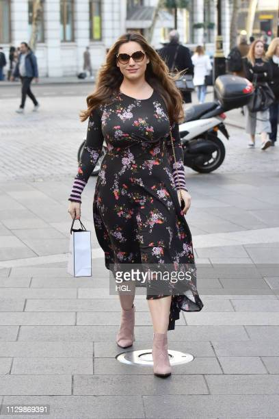 Kelly Brook seen at the Global Radio studio on February 15 2019 in London England